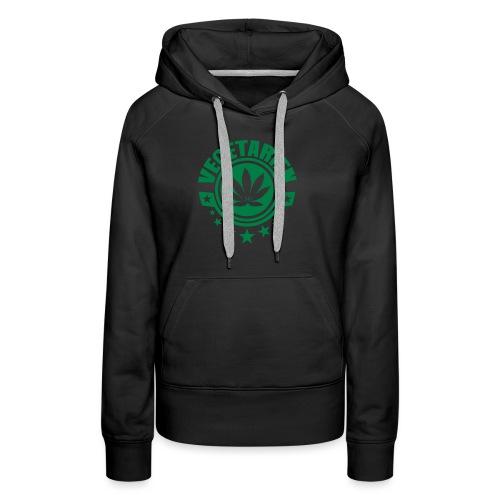 vegetarien feuille cannabis logo - Sweat-shirt à capuche Premium pour femmes