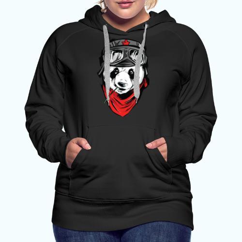 Panda pilot - Women's Premium Hoodie