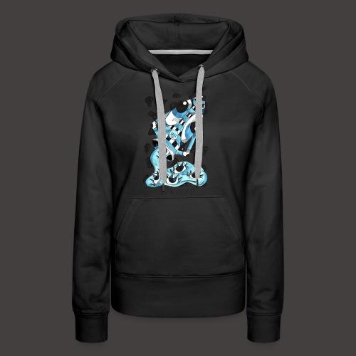 Verseau original - Sweat-shirt à capuche Premium pour femmes