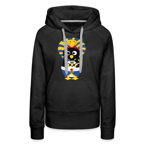 Pingouin Pharaon Egypte - Sweat-shirt à capuche Premium pour femmes