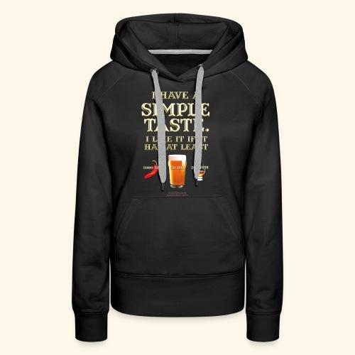 Whisky, Chili, Bier - Frauen Premium Hoodie