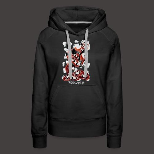 Verseau Négutif - Sweat-shirt à capuche Premium pour femmes