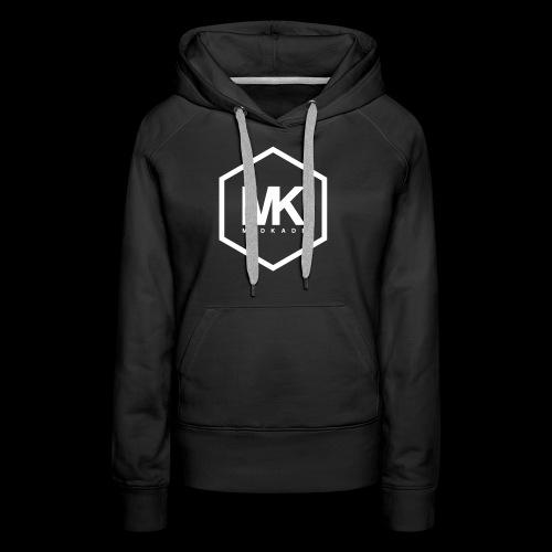 MK LOGO WIT - Vrouwen Premium hoodie