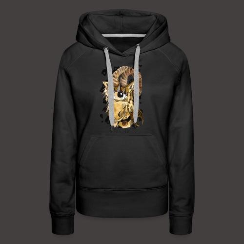 capricorne original - Sweat-shirt à capuche Premium pour femmes