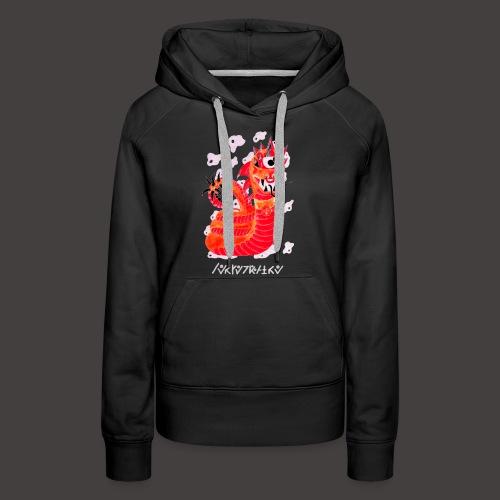 serpentaire Négutif - Sweat-shirt à capuche Premium pour femmes