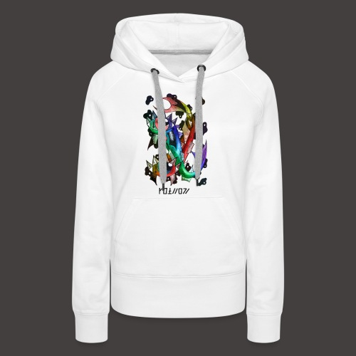 Poisson multi-color - Sweat-shirt à capuche Premium pour femmes