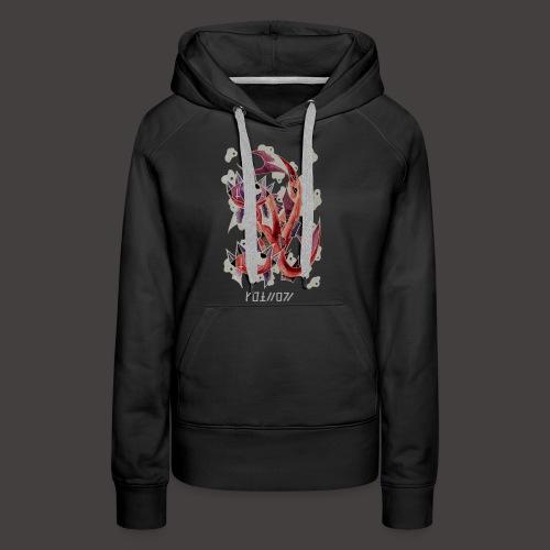 Poisson Négutif - Sweat-shirt à capuche Premium pour femmes