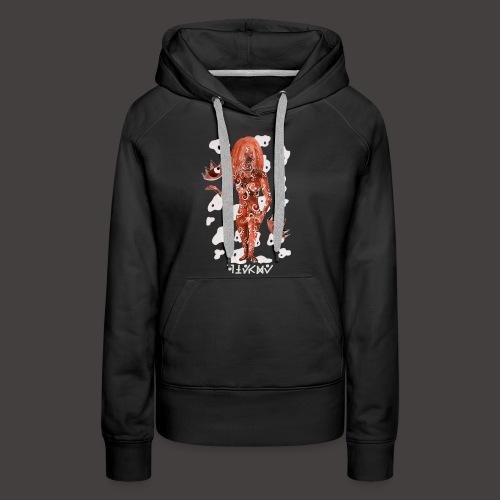 vierge Négutif - Sweat-shirt à capuche Premium pour femmes