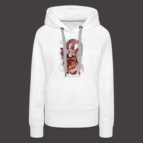capricorne Négutif - Sweat-shirt à capuche Premium pour femmes