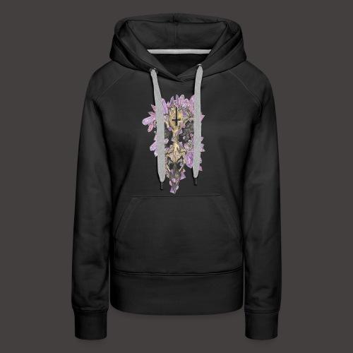 Le Corbeau de Cristal Couleur - Sweat-shirt à capuche Premium pour femmes