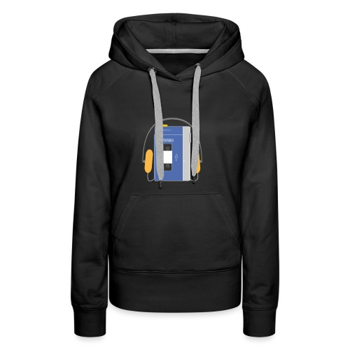 Stereo walkman in blue - Women's Premium Hoodie