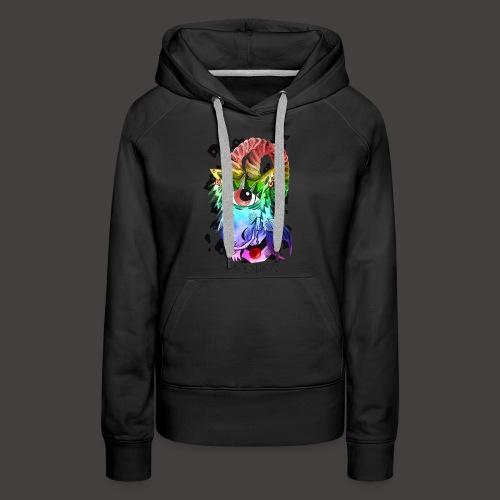 capricorne multi-color - Sweat-shirt à capuche Premium pour femmes