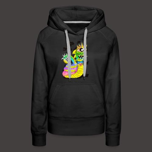 serpentaire multi-color - Sweat-shirt à capuche Premium pour femmes
