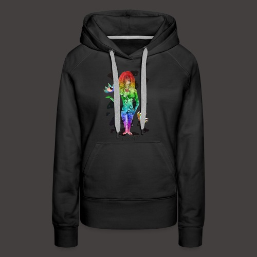 vierge multi-color - Sweat-shirt à capuche Premium pour femmes