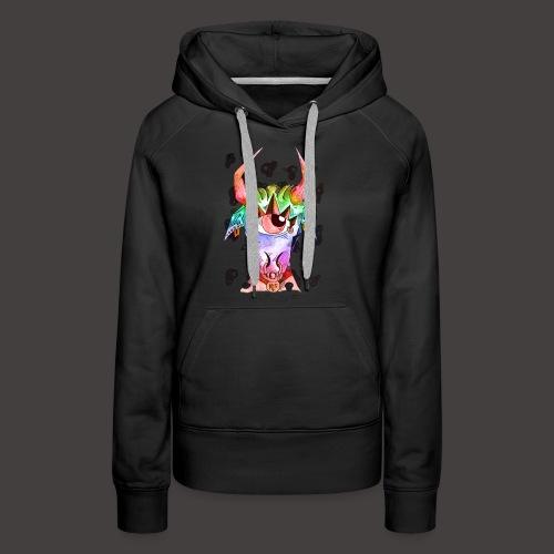 Taureau multi-color - Sweat-shirt à capuche Premium pour femmes