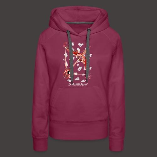 Sagittaire Négutif - Sweat-shirt à capuche Premium pour femmes