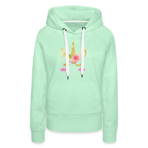 unicorn face - Frauen Premium Hoodie