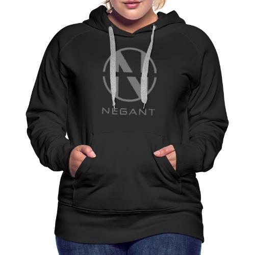 Grey Negant logo - Dame Premium hættetrøje