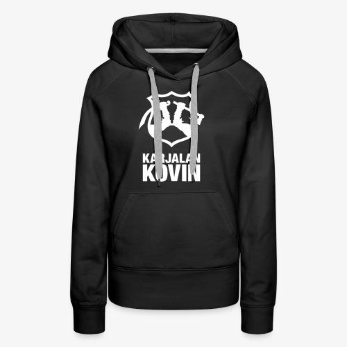 Karjalan Kovin Iso logo - Naisten premium-huppari