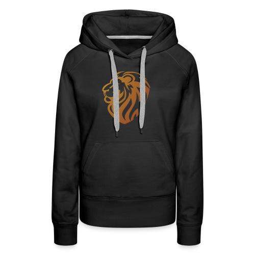 Bronze lion - Sweat-shirt à capuche Premium pour femmes