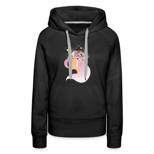 Pink Spring girl - Sweat-shirt à capuche Premium pour femmes