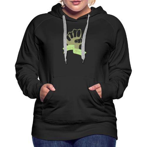 nevergiveup - Sweat-shirt à capuche Premium pour femmes