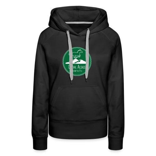 CHEVAL ALSACE- logo - Sweat-shirt à capuche Premium pour femmes