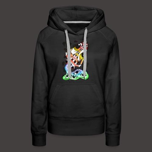 Verseau multi-color - Sweat-shirt à capuche Premium pour femmes