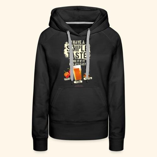 Whiskey Chili Craft Beer SHU IBU PPM - Frauen Premium Hoodie