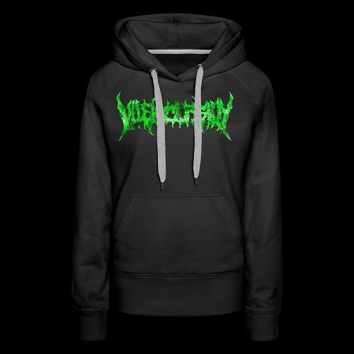 Green logo - Premiumluvtröja dam
