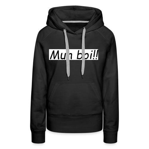 muh boi logo - Premium hettegenser for kvinner