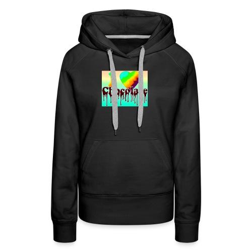 ILOVCHOCO2 copie - Sweat-shirt à capuche Premium pour femmes
