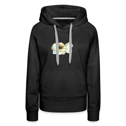 Mops knochen - Frauen Premium Hoodie