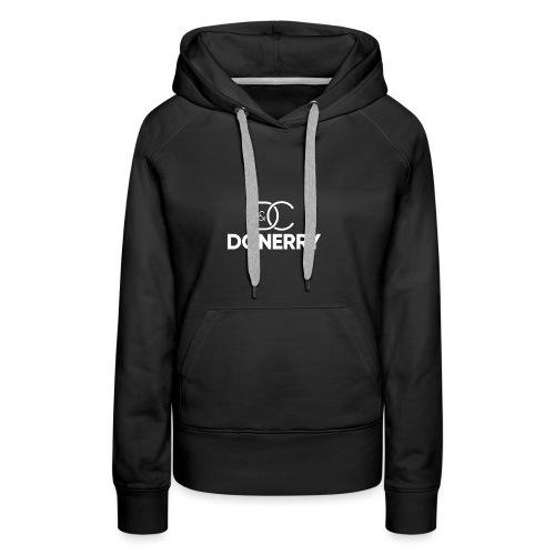 DONERRY New White Logo on Dark - Women's Premium Hoodie