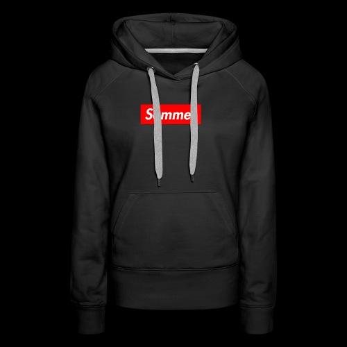 Sommer Logo - Premium hettegenser for kvinner