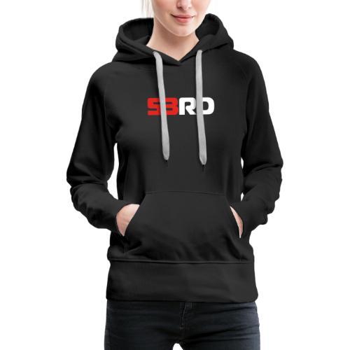53RD Logo lang (weiss-rot) - Frauen Premium Hoodie