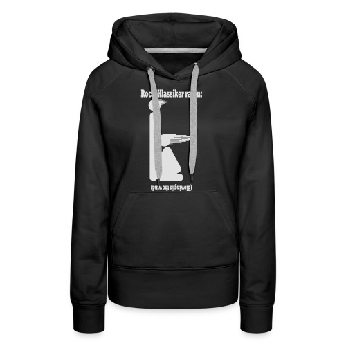 Blowing in the wind - weiss - Frauen Premium Hoodie