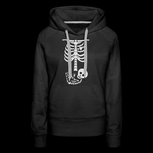 Baby Skelett US Version Maternity / Schwangerschaf - Frauen Premium Hoodie