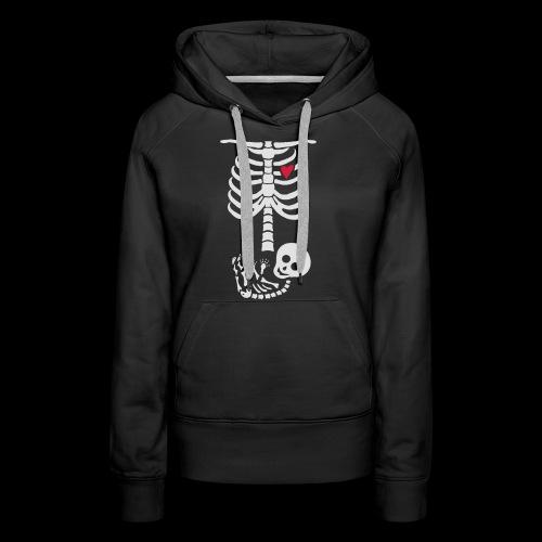 Baby Skelett Schwangerschafts Shirt - Frauen Premium Hoodie