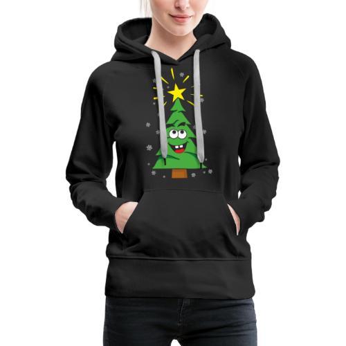 Árbol de navidad - Sudadera con capucha premium para mujer