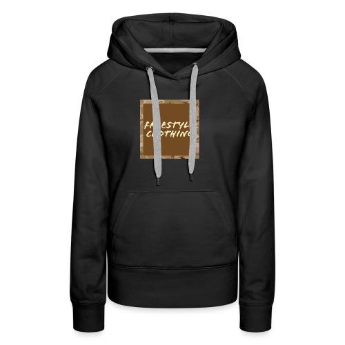 Original 'Freestyle Clothing' Camo Box Logo - Women's Premium Hoodie