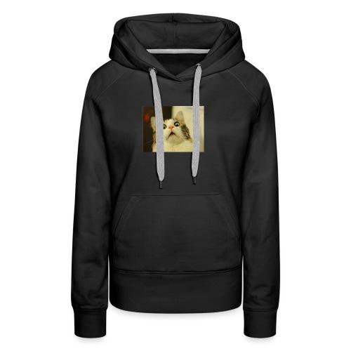 Le chat impressioné - Sweat-shirt à capuche Premium pour femmes