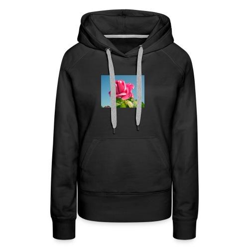 rose - Sweat-shirt à capuche Premium pour femmes