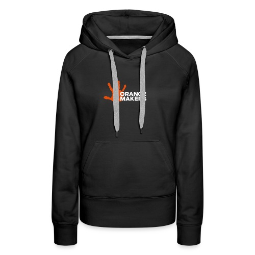 Orange Maker (Hvid tekst) - Dame Premium hættetrøje