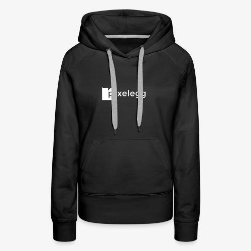 pixelegg Logo Weiss - einfärbbar!!! - Frauen Premium Hoodie