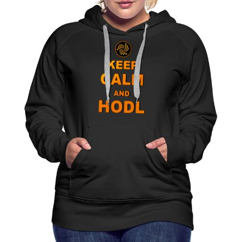 IOTA -keep calm and HODL - Frauen Premium Hoodie