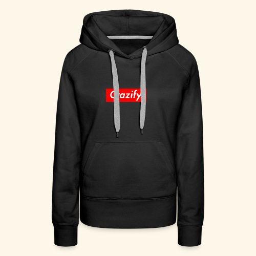 Crazify Red & White - Women's Premium Hoodie
