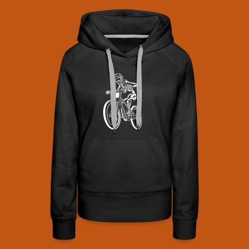 BMX / Mountain Biker 04_weiß - Frauen Premium Hoodie