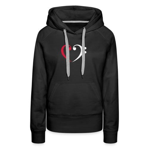 wr lb heart - Frauen Premium Hoodie