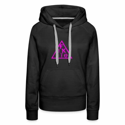 fiktio logo pink - Naisten premium-huppari
